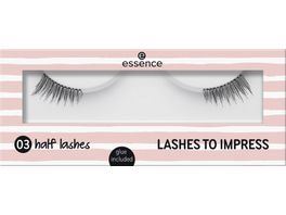 essence lashes to impress half lashes