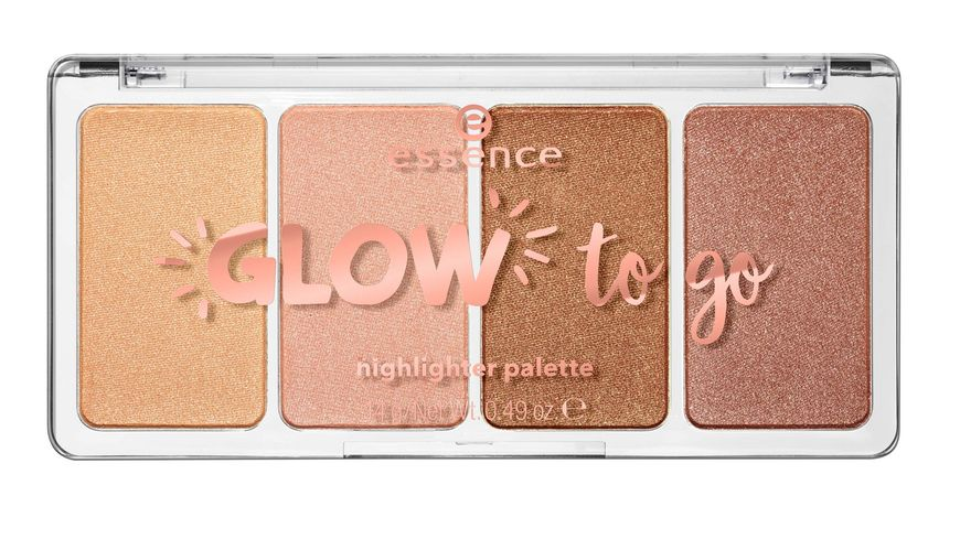 essence glow to go highlighter palette