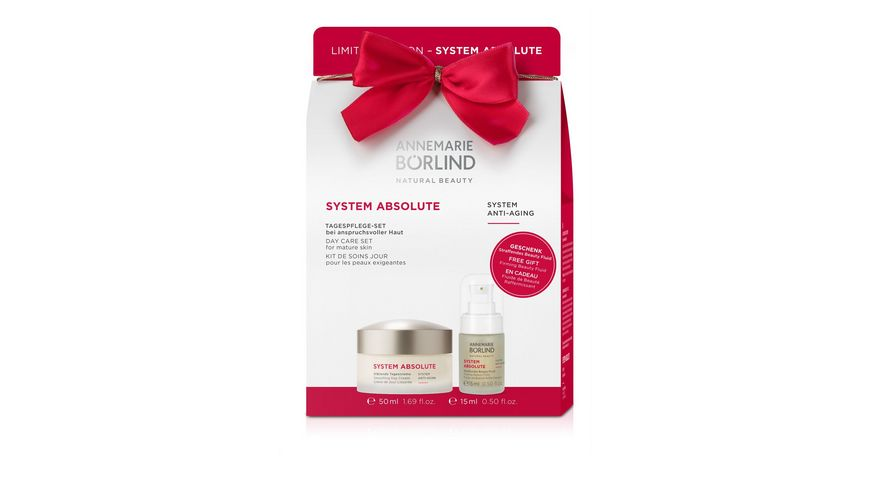 ANNEMARIE BOeRLIND SYSTEM ABSOLUTE Onpack Glaettende Tagescreme Straffendes Beauty Fluid