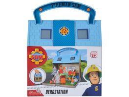 Simba Feuerwehrmann Sam Bergrettungszentrum mit 2 Figuren