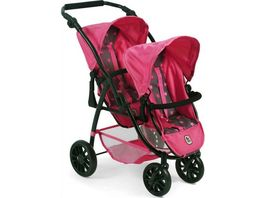Bayer CHIC 2000 Tandem Buggy Vario pink