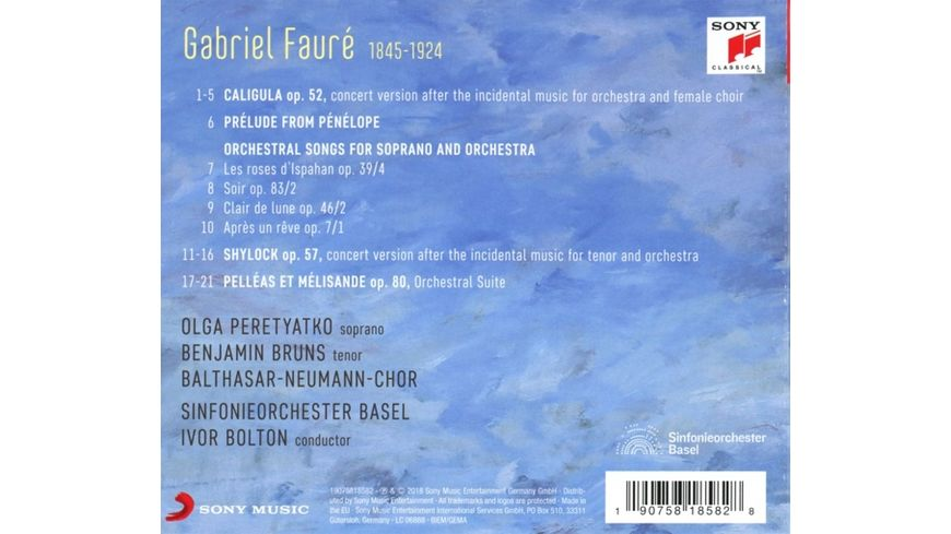 The Secret Faure Orchestral Songs Suites