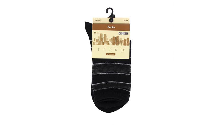 MOVE UP Damen Socken Transparent Optik