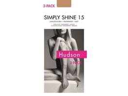 Hudson Damen Langsoeckchen SIMPLY SHINE 15 3er Pack schimmernd