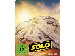 Solo A Star Wars Story Steelbook Limited Edition Blu ray 2D Bonus Blu ray