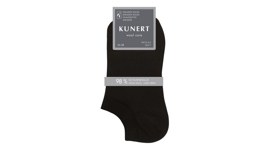 KUNERT Sneaker Socken WOOL CARE aus Wolle