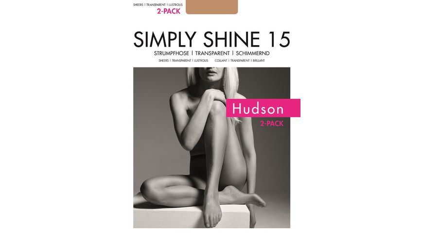 Hudson Damen Feinstrumpfhose SIMPLY SHINE 15 DEN 2er Pack