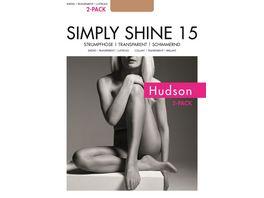 Hudson Damen Feinstrumpfhose SIMPLY SHINE 15 2er Pack schimmernd