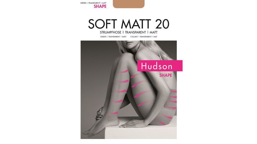 Hudson Damen Feinstrumpfhose SOFT MATT 20 SHAPE transparent und matt