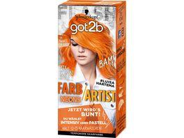 Schwarzkopf got2b Farb Artist 108 Neon Orange Neons