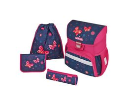 herlitz LOOP Schulranzen Set Butterfly Dreams 3teilig