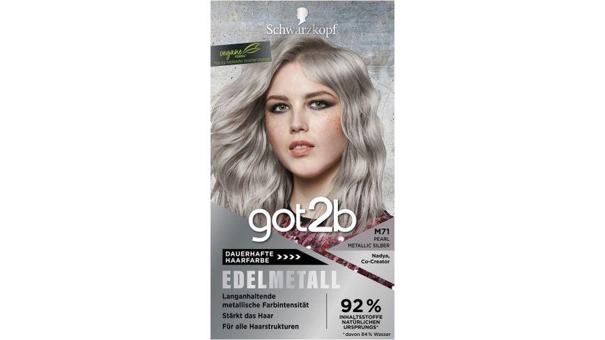 Schwarzkopf got2b Edelmetall Pearl Metallic Silber M71