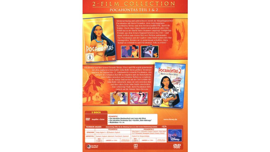 Pocahontas Doppelpack Disney Classics 2 Teil 2 DVDs