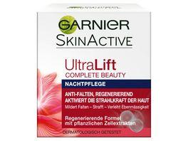 GARNIER SkinActive Ultra Lift Complete Beauty straffende Anti Falten Nachtpflege