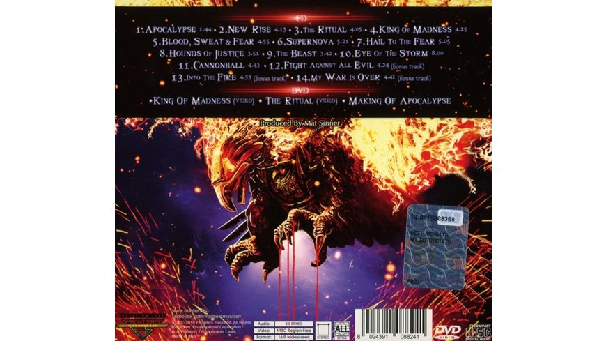 Apocalypse CD DVD Digi