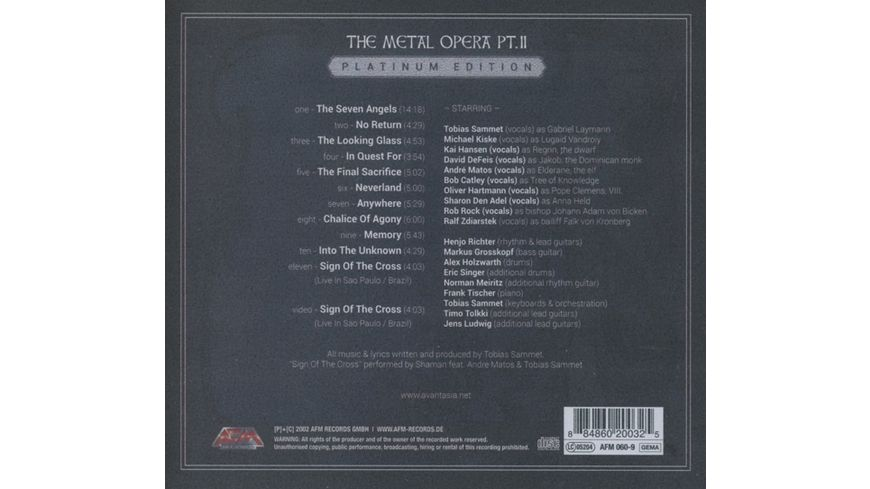 The Metal Opera Pt II Lim Digipak
