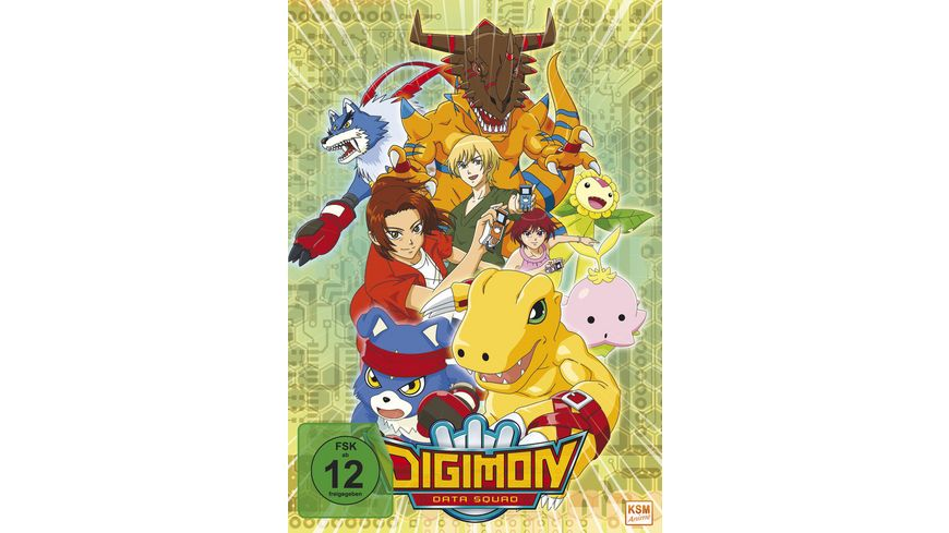 Digimon Data Squad Volume 1 Episode 01 16 im Sammelschuber 3 DVDs