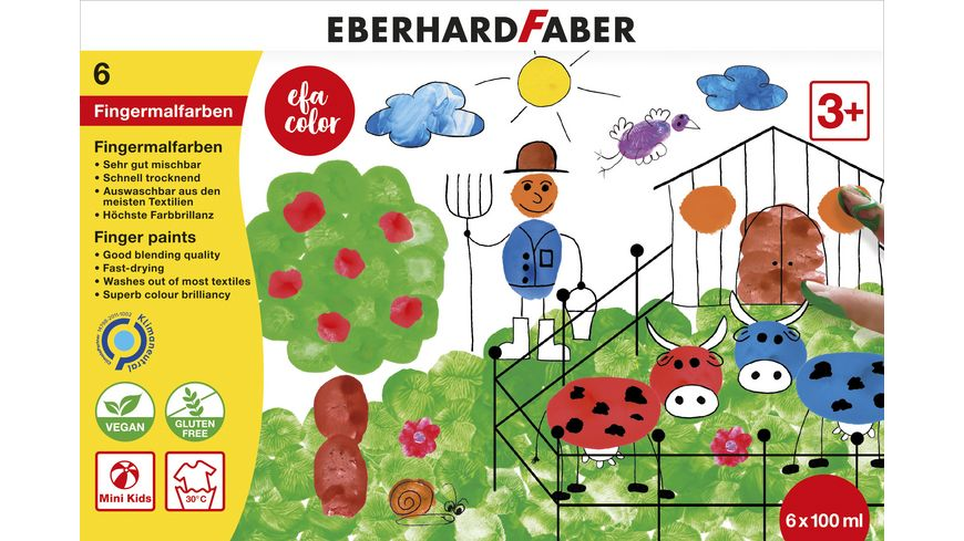 EBERHARD FABER Color Fingermalfarbe 6er Set