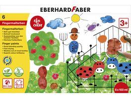 EBERHARD FABER Fingerfarbe 100 ml 6er Schachtel
