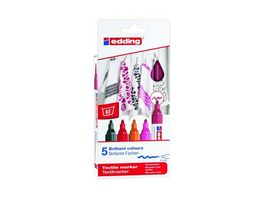 edding Textilmarker 4500 creative warm colours 5er Set