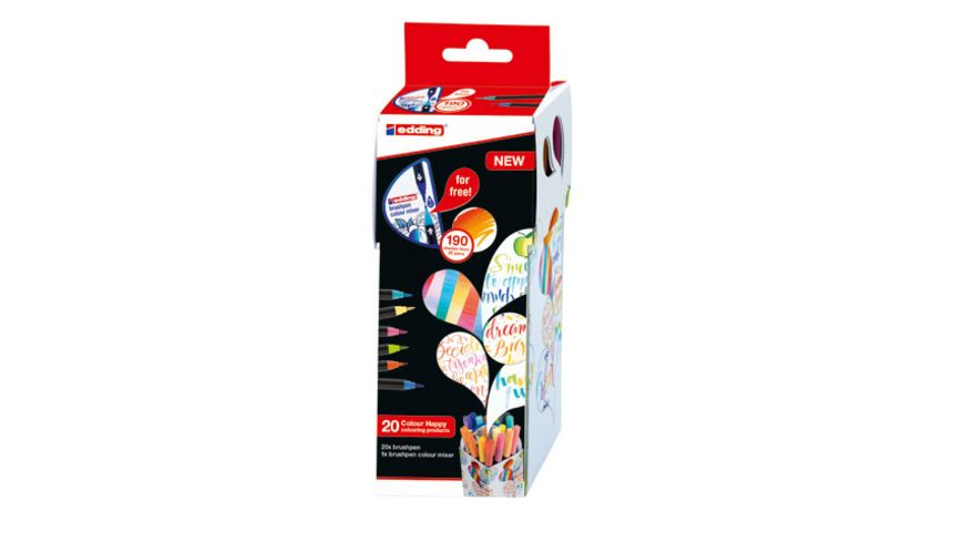 edding Colour Happy Brushpen 1340 20 1 Set