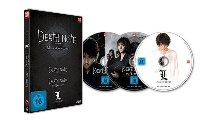 Death Note Movies 1 3 Death Note The Last Name L Change the World 3 DVDs