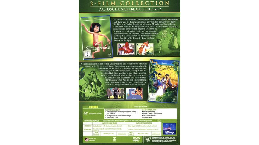 Das Dschungelbuch Doppelpack Disney Classics 2 Teil 2 DVDs