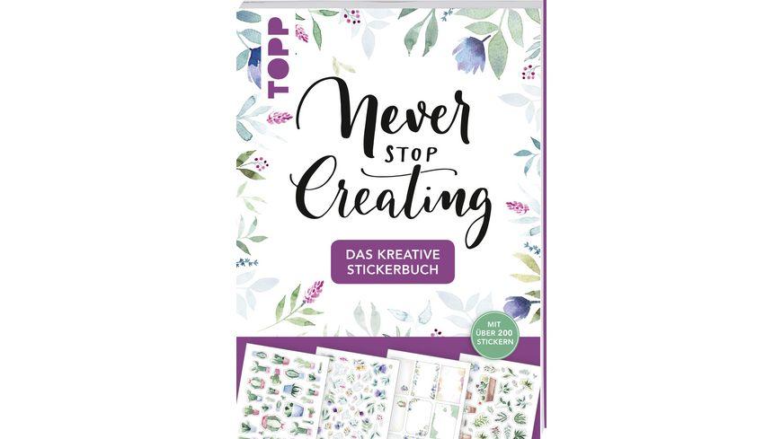 Das kreative Stickerbuch Never stop creating