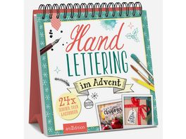 Handlettering im Advent Adventskalender