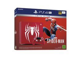PS4 Pro Konsole 1 TB Limited Edition mit Marvel Spieder Man