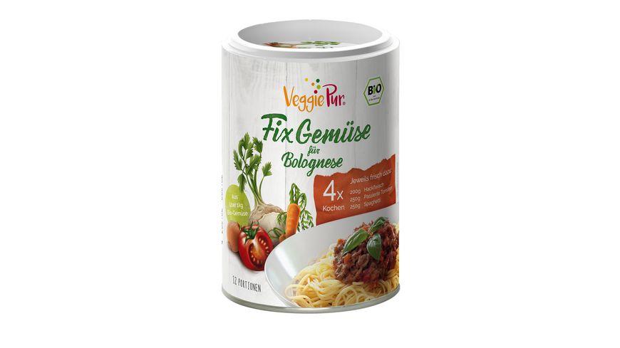 VeggiePur Fix Gemuese fuer Bolognese