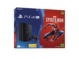 PS4 Pro Konsole 1 TB mit Marvel Spider Man
