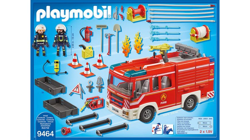 PLAYMOBIL 9464 City Action Feuerwehr Ruestfahrzeug