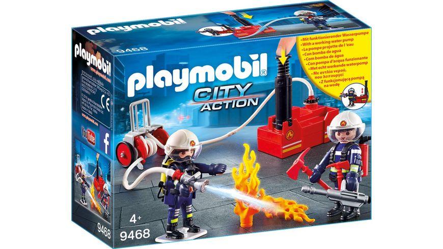 PLAYMOBIL 9468 City Action Feuerwehrmaenner mit Loeschpumpe