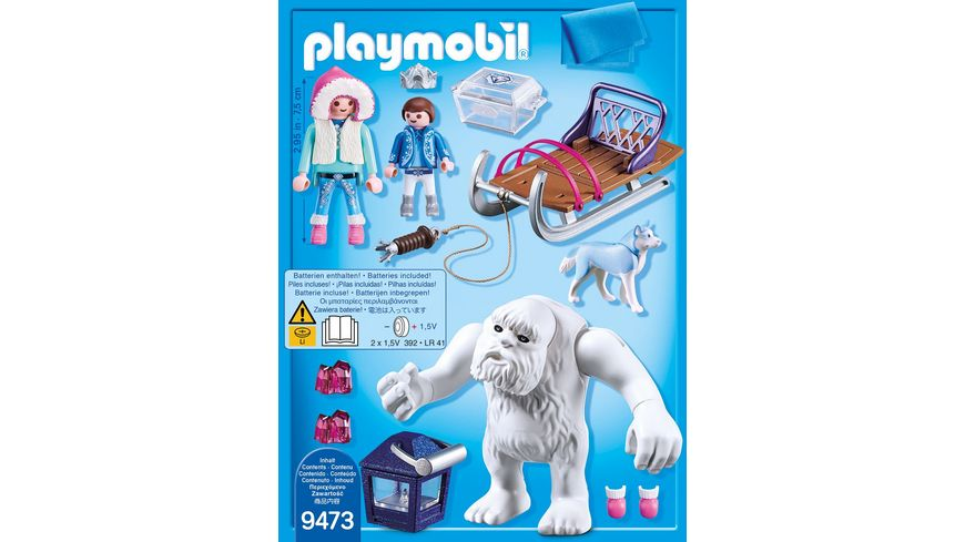 PLAYMOBIL 9473 Magic Schneetroll mit Schlitten