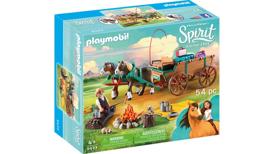 PLAYMOBIL 9477 Spirit Riding Free Vater Jim mit Kutsche
