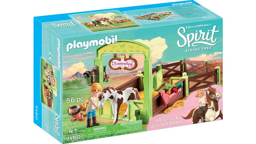 PLAYMOBIL 9480 Spirit Riding Free Pferdebox Abigail und Boomerang