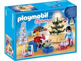 PLAYMOBIL 9495 Christmas Weihnachtliches Wohnzimmer