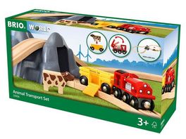 BRIO Bahn Bahn Acht Tunnel Set mit Kuhwagen