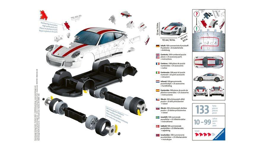 Ravensburger Puzzle 3D Puzzle Porsche 911 R 108 Teile
