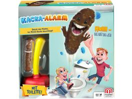 Mattel Games Kacka Alarm Kinderspiel Aktionsspiel Geschicklichkeitsspiel