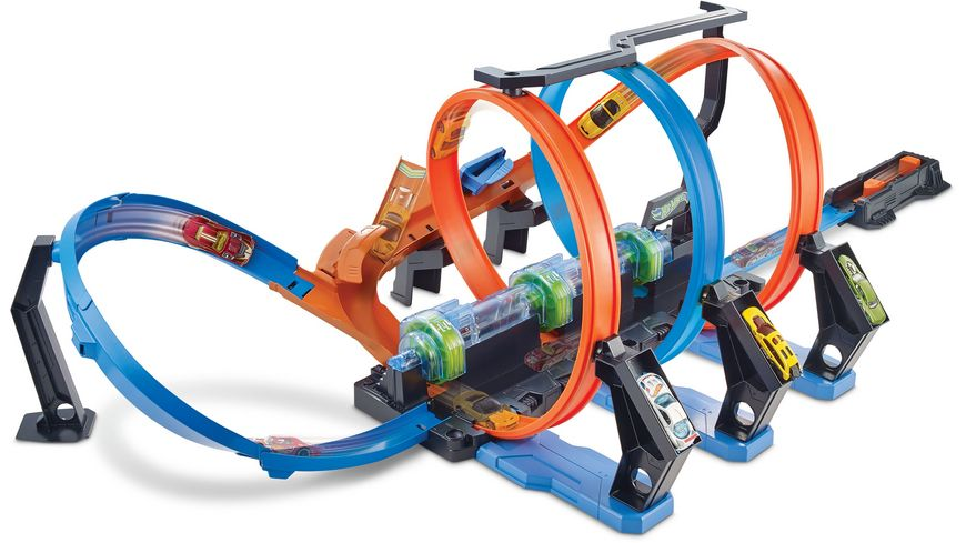 Mattel Hot Wheels Korkenzieher Crash Trackset