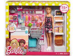 Barbie Supermarkt und Puppe Spielset