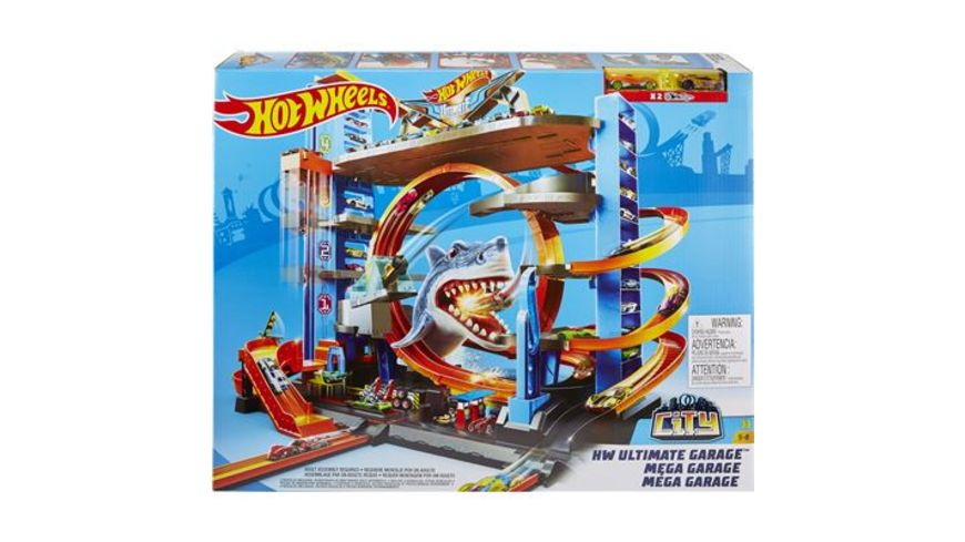 Mattel Hot Wheels City Ultimative Garage mit Hai Angriff