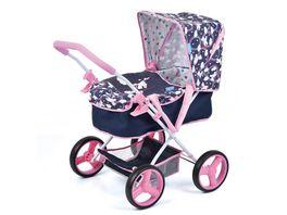 Hauck Toys for Kids Puppenwagen Gini Unicorn mit abnehmbarer Softtasche fuer Puppen bis 43 cm geeignet