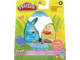 Hasbro Play Doh Fruehlingseier mit Knetstempel 2er Pack sortiert