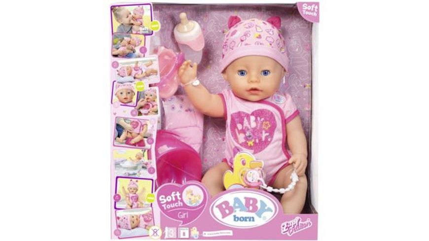 Zapf Creation Baby born Soft Touch Girl Blue Eyes