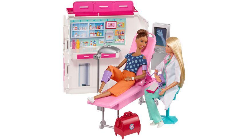 Mattel Barbie 2 in 1 Krankenwagen Spielset