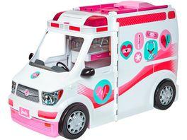 Barbie Krankenwagen 2 in 1 Spielset mit Licht Geraeuschen Barbie Krankenhaus