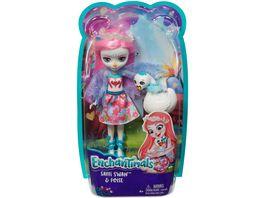 Mattel Enchantimals FRH38 Schwanenmaedchen Saffi Swan Puppe